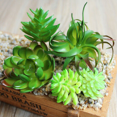 Artificial Succulents Plant Garden Miniature Fake Cactus DIY Home Floral