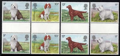 Gb Mnh 1979 Sg1075-1078 Dogs Gutter Pairs