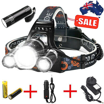 80000LM 5X XM-LT6 CREE LED HEADLAMP 18650 HEAD TORCH Zoom LIGHT LAMP FLASHLIGHT