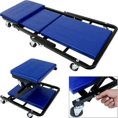 Workshop Creeper Board Rolling Under Car Crawler Stool Folding 6 Wheeled Garage