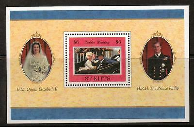 St.kitts Sgms491 1997 Golden Wedding  Mnh