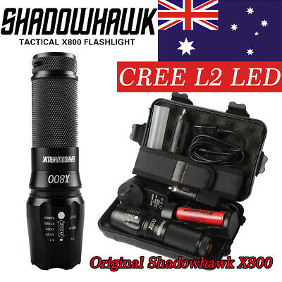 20000lm X800 Shadowhawk USB Rechargeable Tactical Flashlight CREE L2 LED Torch