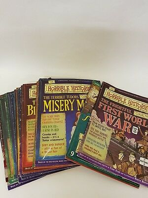 25 x HORRIBLE HISTORIES COMICS NUMBERS # 1 - 25