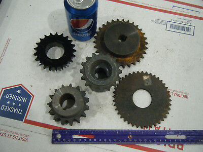 Lot of 5 Steel INDUSTRIAL GEAR LOT COG SPROCKET STEAMPUNK LAMP BASE CAST IRON 08