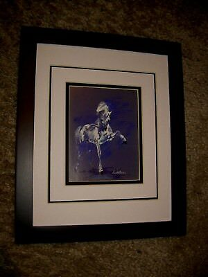 Impressive White Andalusian Horse Framed Image by Leroy Neiman