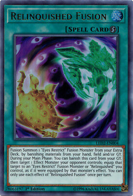 Relinquished Fusion - LED2-EN004 - Ultra Rare - 1st Edition x1