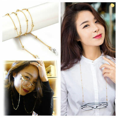 Gold Silver Colors Glasses Chain Spectacles Holder Eyeglass Strap Beaded Cord