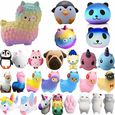 Jumbo Animals Slow Rising Squishies Scented Charms Kawaii Squishy Squeeze Toys B