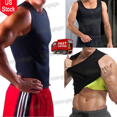 Men Hot Sweat Trimmer Belt WeightLoss Wrap Stomach Fat Burner Shaper Corset VEST