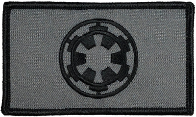 "Star Wars Imperial Tactical Hook and Loop Embroidered Gray Urban 2"" X 3.5"""