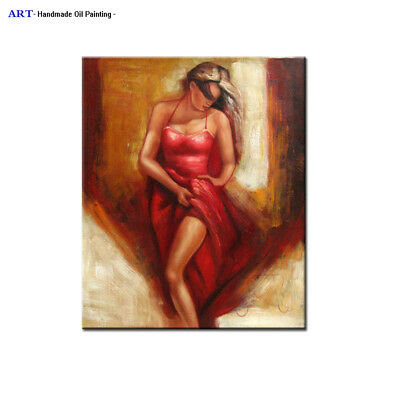MODERN ABSTRACT OIL PAINTING Wall Art Canvas Sexy Girl Nudes Contemporary Decor