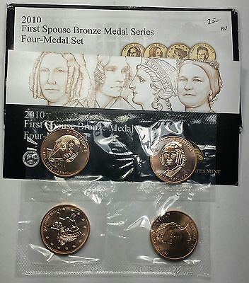 2010 U.S. Mint First Spouse Bronze 4 medal set OGP
