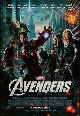 "Marvel THE AVENGERS 2012 Original INTL DS 2 Sided 27x40"" Movie Poster Iron-Man"