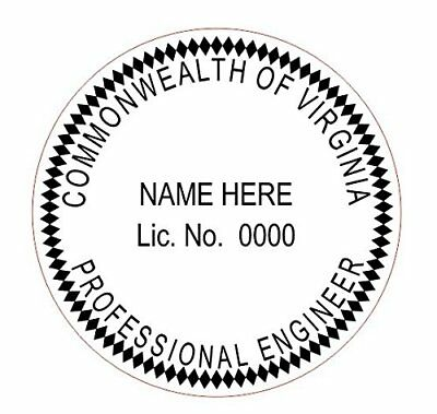 State of Virginia   Customized Professional Self-Inking Round Engineer Stamp