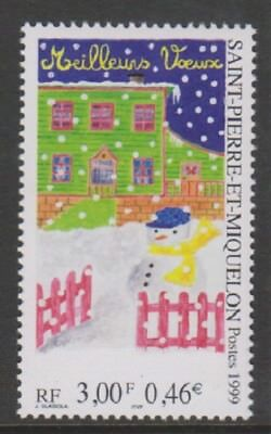 St Pierre & Miquelon - 1999, Greetings (Xmas) stamp - MNH - SG 930