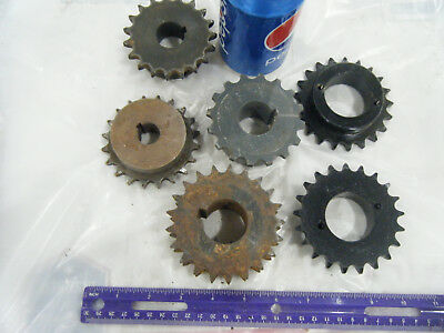 Lot of 6 Steel INDUSTRIAL GEAR LOT COG SPROCKET STEAMPUNK LAMP BASE CAST IRON 15