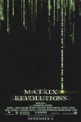 THE MATRIX REVOLUTIONS ~ 27x40 DOUBLE SIDED ORIGINAL MOVIE POSTER ~ Keanu Reeves