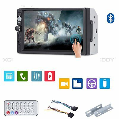 "7"" Bluetooth Touch Screen Car Stereo Radio MP5 MP3 Player 2DIN HD Double USB"