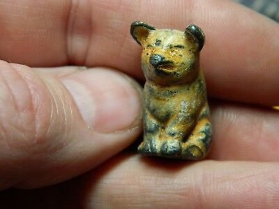 Un researched Vintage painted lead toy angry pig ??  metal detecting detector