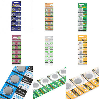 5PCS/10PCS AG13 LR44 SR44 L1154 357 A76 Button Coin Cell Pack Alkaline Batteries