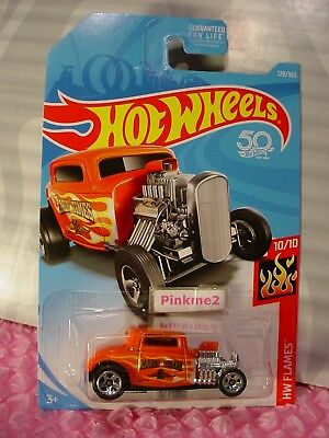 2018 Hot Wheels #129 HW Flames /'32 Ford Early Times