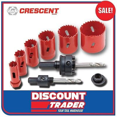 Crescent 9 Piece Professional Electrician's Holesaw Kit - NHSK9
