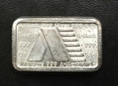 1981 A-Mark Commercial Poured Silver Ingot One Ounce .999 A2741