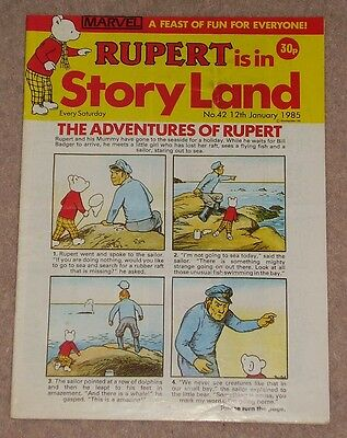 RUPERT BEAR COMIC RUPERT IS IN STORYLAND NO. 42 DATED 12th JANUARY 1985