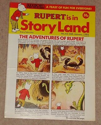 RUPERT BEAR COMIC RUPERT IS IN STORYLAND NO. 44 DATED 26th JANUARY 1985