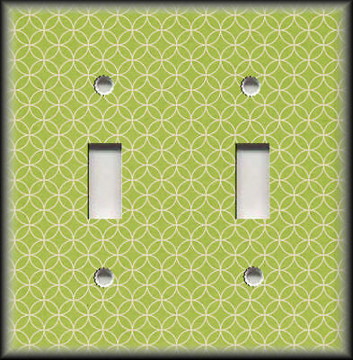 Metal Light Switch Plate Cover - Lime Green Geometric Home Decor Switchplates