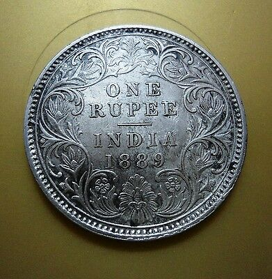 British India - Victoria Empress - One Rupee - 1889 -C I C Incuse -Calcutta Mint