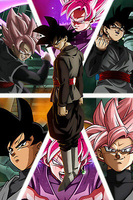 Dragon Ball Super Poster Goku Black Forms 12in x 18in Free Shipping