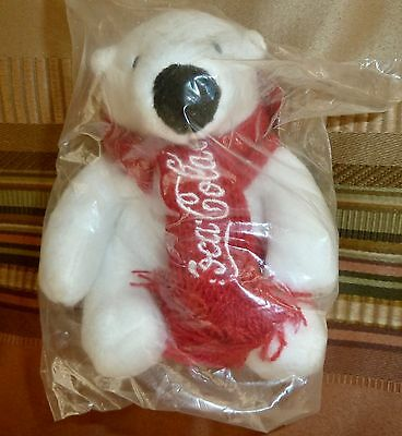 "Coca Cola Polar Bear ""Arctic Homes"", Plush Toy, NEW IN PACKAGE"