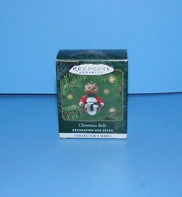 Hallmark Miniature Ornament Christmas Bells 2001 Colorway Repaint Mouse Bell