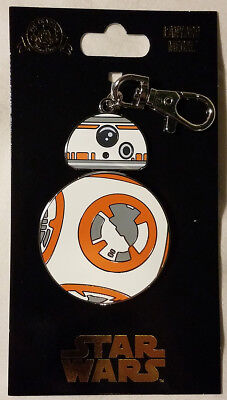 Disney Parks Star Wars BB-8 Droid Lanyard Medal Spinner Force Awakens Pin - NEW