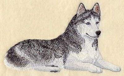 Large Embroidered Zippered Tote - Siberian Husky C4997