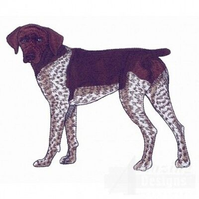 Large Embroidered Zippered Tote - German Shorthaired Pointer AD212