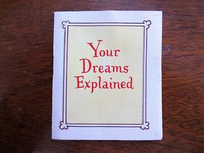 1950s Your Dreams Explained Small Comic Booklet Children Kids Bear Cub