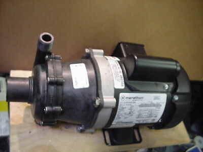 New March TE-5.5K-M Magnetic Drive pump Kynar 1/3HP 115/230v 1Ph motor