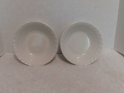 Churchill China Chelsea White 2 Coupe Cereal Bowls Made in England & CHURCHILL CHINA Chelsea White Dinner Plates Made in England ...