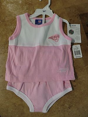 RAMS NFL Reebok Pink Stitched  Short Set Size 24 Months  MSRP $25 New With Tags
