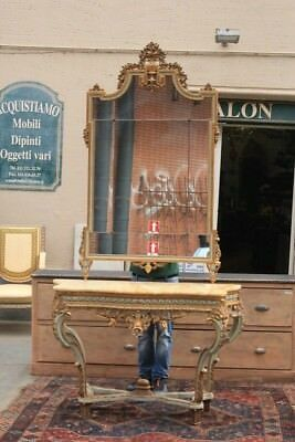 Console With Mirror, Period Beginning '900 / Console / Mirror / Console Tables
