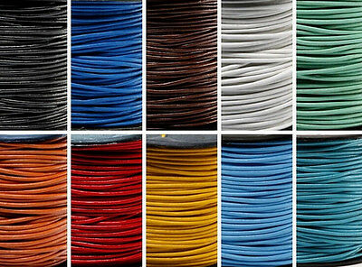 Wholesale 3M DIY Leather Necklace Charms Rope String Cord 1.5 2.0 mm Any Color