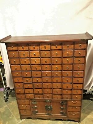 Large Vintage Chinese Apothecary Medicine Herbal Display Cabinet 71 Drawer