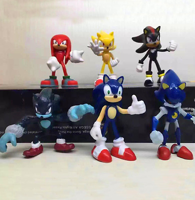 6pcs Action Figures Cute Sonic the Hedgehog Game Doll Kids Boy Girl Toy Set Gift