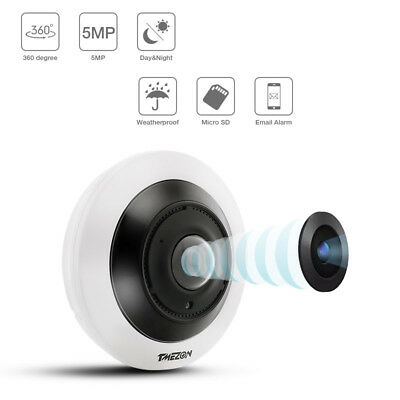 5MP IP WIFI CCTV Camera 360°VR Panoramic Audio Recording Network Home security