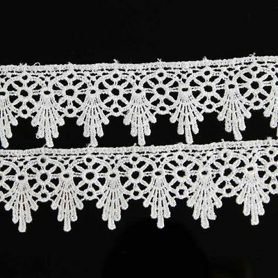 Lace Trim Ribbon For Wedding Bridal Dress DIY Embroidered Sewing Craft 2 Yards