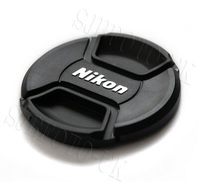 52Mm Center Centre-Pinch Clip-On Front Lens Cap Cover For Nikon Lc-52