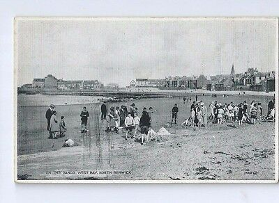 Postcard On The Sands West Bay North Berwick 1930 Gullane Dunbar area