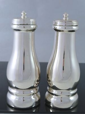 Vintage MADE IN ITALY Silverplate SALT & PEPPER SHAKERS